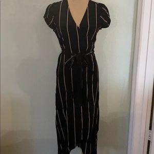 LOFT Kimono Style Striped Dress
